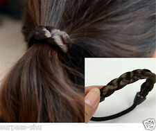 Lady Faux Wig Hair Stretchy Elastic Ring Tie Hair band Ponytail braided hair