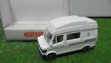 WOHNMOBIL JAMES COOK blnc echelle 1/87 TRAIN HO WIKING 2670014 voiture miniature