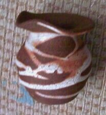 """Body Store Terracotta Clay Ceramic Pottery Incense Burner Twig Vase 3"""" Tall"""