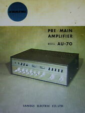 SANSUI AU-70 PRE MAIN AMP SERVICE MANUAL INC SCHEMATICS PRINTED BOUND ENGLISH