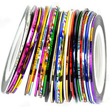10X  Nail Art  Mixed Colors Rolls Striping Tape Line DIY Tips Decoration Sticker