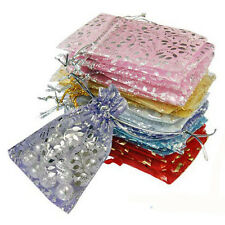 25pcs/set Organza Jewelry Wedding Gift Pouch Bags  7x9cm 3X4 Inch Mix Color
