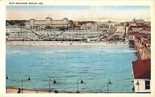 Maine postcard Old Orchard Beach roller coaster