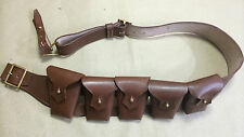 UK 1903 Pattern Leather Cavalry Bandolier - 5 Pocket JAWA COSTUME