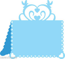 Cheery Lynn Designs Die ~ Hearts & Doves Placecard ~ B300 ~ Love ~ New Out