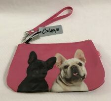 Catseye London French Bulldog Petite Bag Wristlet NEW Pink Frenchies