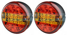 PAIR OF 12V24V VOLT LED REAR CHEESEBURGER TAIL LAMP LIGHT LORRY/TRUCK/TRAILER