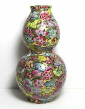 Lovely Mille Fleur Thousand Flowers Chintz Chinese Or Japanese Double Gourd Vase