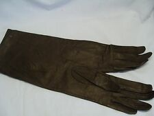 "Vintage 16"" Kid Leather Gloves Viola Weinberger Size 7 silk Lined Opera"