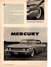 1961 MERCURY ~ ORIGINAL 2-PAGE NEW CAR PREVIEW ARTICLE / AD
