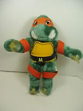 "Teenage Mutant Ninja Turtles 14"" MICHELANGELO SUCTION CUP PLUSH TMNT 1988 Cling"