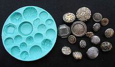 Silicone Mould VINTAGE BUTTONS_3 Sugarcraft Cake Decorating Fondant / fimo mold
