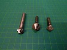 3 x Kegelsenker 90° Ø 16,5-12,4-12,4 mm / Zustand 3 - 4