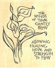 Calla Lily Winds Of Time Wood Mounted Rubber Stamp IMPRESSION OBSESSION G15078