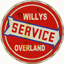 Reproduction Willy's  Service Overland Sign 18 Round