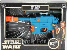 NEW Disney Parks Star Wars Blue REBEL BLASTER Han Solo Toy Gun - Lights & Sounds