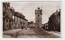 CHURCH STREET & TOWER, DUFFTOWN: Banffshire postcard (C11127)