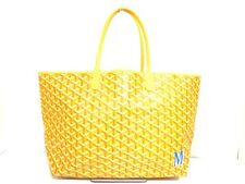 Authentic GOYARD Yellow Saint Louis PM Coated Canvas Tote Bag MAE020076
