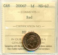 Canada 2006P One Cent ICCS Certified MS-67 Magnetic; RED
