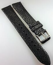 GENUINE STINGRAY/GALUCHAT BLACK WATCH BAND 18MM PADDED