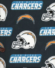 """NFL San Diego Chargers Cotton Fabric 4 Pieces 12"""" X 12"""""""