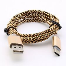 3FT Strong Braided Fabric USB 3.1 Type C Data Charger Charging Sync Data Cable