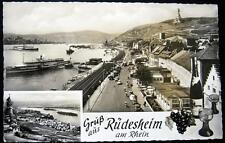 GERMANY~Deutschland~1950's Gruss aus RUEDESHEIM am Rhein~Real Photo PC  RPPC