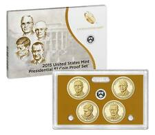 2015 PRESIDENTIAL $1 GOLDEN DOLLAR GEM PROOF DCAM 4 COIN SET with box and COA