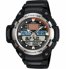 Casio Pre-owned Used SGW-400H-1B Mens Sport Twin Sensor Watch Altimeter SGW-400