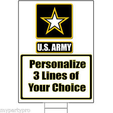 US ARMY STRONG PERSONALIZED YARD SIGN Party Supplies FREE SHIPPING NEW