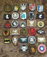 Lot of 5 Random PVC Rubber Velcro Tactical Morale Patches