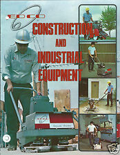 Equipment Brochure - EDCO - Concrete Saw Plane Grinder et al - 8 items (E3036)
