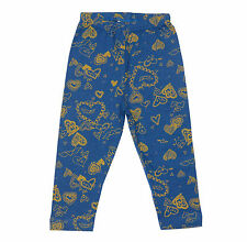 Oshkosh Printed Fitted Leggings for Baby Girl Blue Hearts  Size 18 months