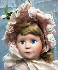 "BEAUTIFUL 19"" PORCELAIN DOLL JAN HAGARA ALL ORIGINAL"