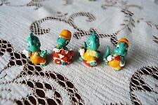 vintage Kinder Surprise dinos small builder dinosaur toy figurines x 4