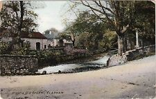 River & Old Cross, CLAPHAM. Yorkshire