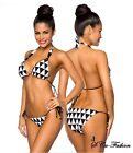 Sexy Neckholder Push-Up Bikini Dreiecksmuster Triangel Dreieck Bademode Sommer