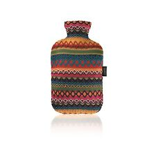 Fashy Hot Water Bottle With Peruvian Style Cover Red Orange Pink Blue