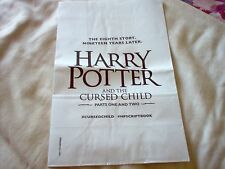 HARRY POTTER AND THE CURSED CHILD PROMOTIONAL PAPER BAG