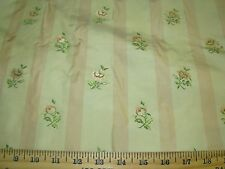 """~BTY~100% SILK~""""AVIGNON"""" FLOWERS~EMBROIDERED~UPHOLSTERY FABRIC FOR LESS~"""