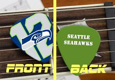 Seattle Seahawks 12 man fan 12er 12th Set of 3 premium Promo Guitar Pick Pic