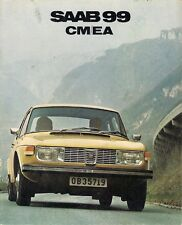 Saab 99 1971-72 UK Market Sales Brochure 1.8 Carburettor Fuel Injection 2dr 4-dr