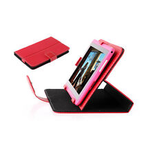 "New Red Universal Wallet Folio Smart Case Stand Cover for 7"" 7 Inch Tablet"