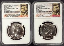 2014 Clad Kennedy 50th Anniversary P & D set! ANA Inaugural Releases! NGC SP 68!