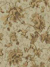 Wallpaper Designer Bronzed Gold Floral & Leaf Vine on Olive Green Faux