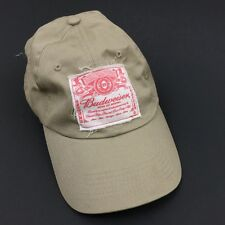 BUDWEISER Hat Baseball Cap Beige Cotton Adjustable King of Beers