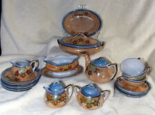 Vintage Toy Dish Set Glossy Ceramic Made in Japan Free Shipping