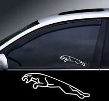 2 x Jaguar 2 Window Decal Sticker Graphic *Colour Choice*