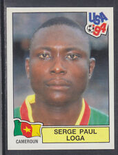 Panini - USA 94 World Cup - # 135 Serge Loga - Cameroun (Green Back)