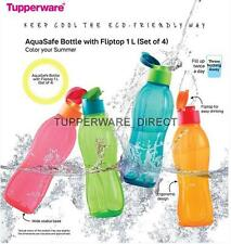 Tupperware 1 Litre Flip Top Bottle - 1000 Ml- 34 oz - ( Set of 4) -  New colours